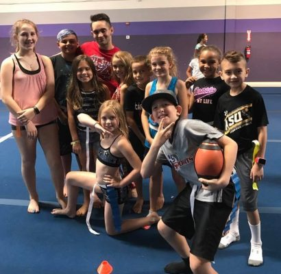 BCE Summer Camp 2017 - Campers are excited about Coach Mack playing with them!